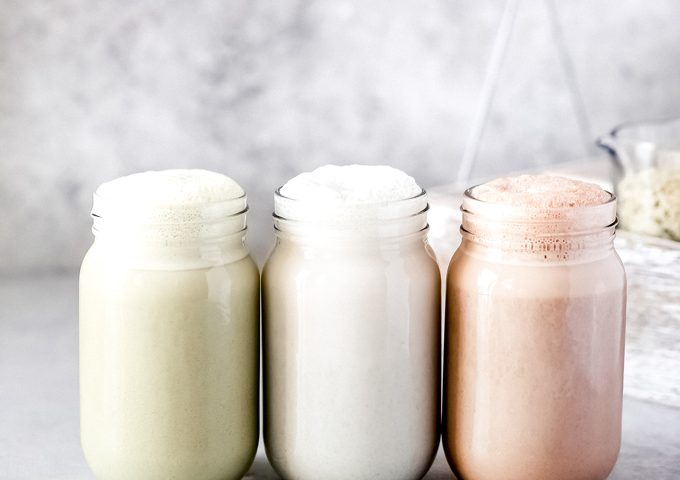 Homemade Hemp Milk 3 Ways - Make your own hemp milk with no straining required using 2 to 3 ingredients! A delicious dairy free alternative and can be used for anything from soups to smoothies, to cereal! NeuroticMommy.com #vegan #keto #hempmilk #homemade